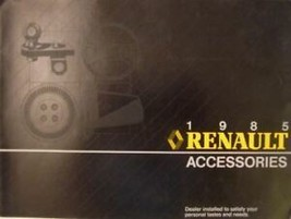 1985 Renault Accessory Accessories Orig Sales Brochure - $7.12