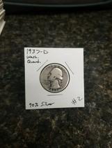1937-D Washington Silver Quarter!!! Nice Coin!!! 90% Silver!!! - $5.94