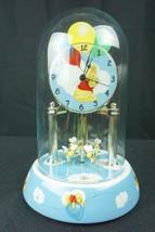 Disney Winnie The Pooh Anniversary Clock Quartz Movement Porcelain & Glass - $29.95