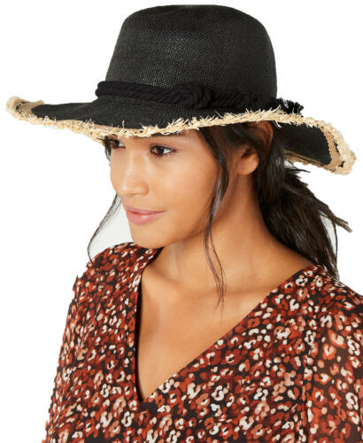 Primary image for INC International Concepts Women's Twisted Straw & Rope Detail Floppy Hats, B...