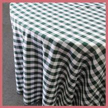 Round 108 inches Tablecloth Checker Polyester B... - $30.86