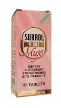 Sukrol Vigor Mujer Dietary Supplement With Vitamin E 30 Tablets... mtc - $29.39