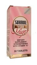 Sukrol Vigor Mujer Dietary Supplement With Vitamin E 30 Tablets... mtc - $29.39