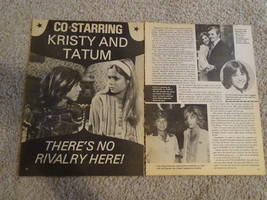 Kristy Mcnichol Tatum O'neal teen magazine pinup clipping co-starring Bop