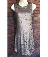 Bronze Dress XS Fitted Lined Mermaid Sequins Shine Ice Chelsea & Violet ... - $19.60
