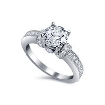 Womens Wedding Diamond Engagement Ring 14k White Gold Finish 925 Sterlin... - £56.52 GBP