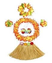 PANDA SUPERSTORE Hawaiian Hula Dance Dresses Set Kids' Party Costume