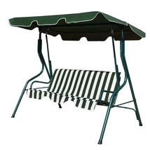 3 Seats Patio Canopy Swing-Green - $143.93
