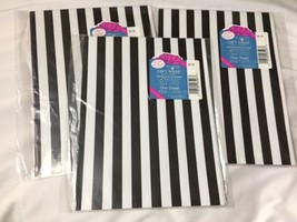 Vtg American Greetings Forget Me Not WRAPPING PAPER Black White Stripe G... - $16.61
