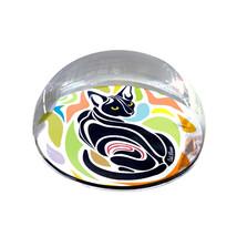 "Colorful Shape Cat Illustration Art Gift 2"" Crystal Dome Magnet or Paper... - $15.99"