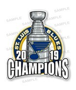 St Louis Blues 2019 Champions Large Size Precision Cut Decal - £10.53 GBP+