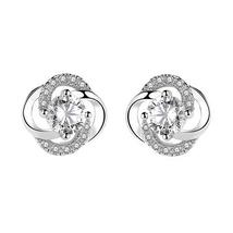 Fashion Women Sterling Zircon Earrings Ear Studs - $14.99