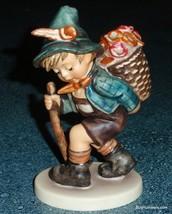 """Flower Vendor"" #381 Goebel Hummel Figurine TMK5 Boy With Basket Of Flowers - $145.49"