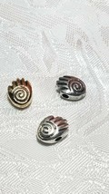 HAND WITH SPIRAL FINE PEWTER BEAD - 8mm L x 11mm W x 5mm D, Hole 2mm image 2