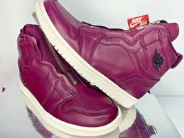 $150 NEW SIZE 7 WOMEN Nike Air Jordan 1 Retro High ZIP BORDEAUX BLACK Sh... - $84.99