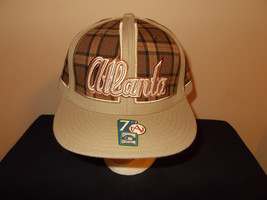 VTG-Atlanta Braves Cooperstown Collection American Needle plaid fitted 7... - $27.83