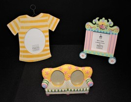 Set of 3 Two's Company Circus, Sofa, T-Shirt Picture Frames by Shannon M... - $20.00
