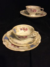 SELTMANN WEIDEN BAVARIA TRIO MADE IN GERMANY CUP, SAUCER, PLATE 2 sets blue - $23.75