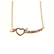 "NCAA Oklahoma Sooners Heart Script Necklace - Chain Logo Team 18"" Jewelr... - €7,35 EUR"