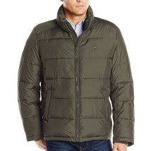 Tommy Hilfiger Men's Premium Insulated Classic Puffer Nylon Jacket Olive Green