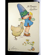 RT44 Tuck Chicks and Children Postcard Series 750 Happy Easter Not Poste... - $12.00