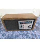 Vintage 70s/80s Zenith H422P AM/FM Wood Grain Table Top Radio Works Great - $26.74