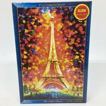New- The Eiffel Tower 1000 pc. Puzzle Glow in the Dark - Fluorescent Brand - $21.49