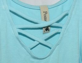 Pomelo Sky Blue Tunic Top Sleeveless Summer Top Girls Size Extra Small image 3