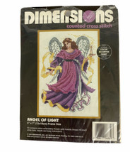 """Dimensions Angel of Light Counted Cross Stitch Kit 5"""" x 7"""" 1994 New Open pack - $9.99"""