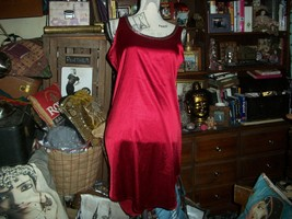 KENNETH COLE Hot Lady In Red Satin Beaded Dress Size M - $22.77