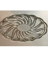Two Mikasa Clear Peppermint Swirl Oval Trays Small and Large - $19.99