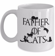 Funny Cat Dad Mug Father of Cats Game of Thrones Gift Husband Coffee Chr... - $14.65+