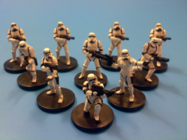 Star Wars Miniatures Stormtrooper Squad with Cards!! - Free Shipping! Lot - $27.88