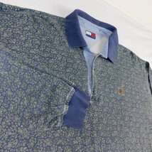 Tommy Hilfiger Blue Green Paisley Rugby Shirt Sz XL - $19.99