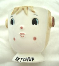 Vintage Commodore Japan Ketchup Jar Ceramic Container - $19.99