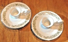 Set 2 pc. MIKASA G9059 Montclair candle holders Candle stick Handled Saucer - $25.00