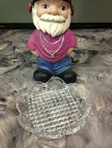 VINTAGE PRESSED GLASS, SCALLOP FAN SIDES WITH CHECKER BOARD DESIGN - $4.99