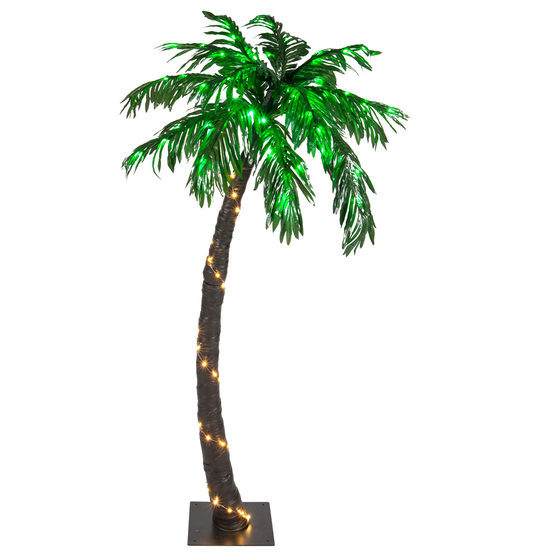 LED Tropical Palm Tree Outdoor Lighted Decoration Pool ...