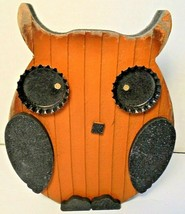 "Decorative Wood Owl Craft Handmade Collectibles Gift Home Decor 6""H x 5""W - $10.86"