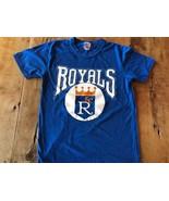 1970s 80s Champion KC Royals Crown Baseball Ringer T Shirt Medium Shrunk - $20.90