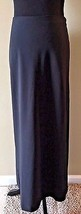 Express Black Long Maxi Skirt size 7 8 Modest Polyester Stretch Side Zip... - $19.95