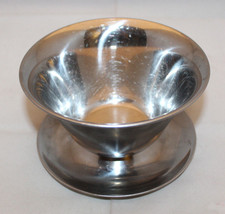 Made in Denmark 18-8 Stainless Steel Round Gravy Boat Bowl Underplate At... - $27.50