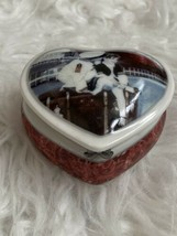 Kim Anderson Heart Trinket Box Pretty As A Picture Our Love Keeps Me Afl... - $21.77