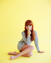 Ann-Margret 16x20 Poster in striped short dress seated - $19.99
