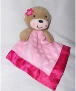 Garanimals Pink Monkey Baby Security Blanket Lovey Minky Dot Bumps Satin - $33.66