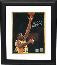Magic Johnson signed Los Angeles Lakers 16x20 Photo Layup Custom Framed - £126.03 GBP