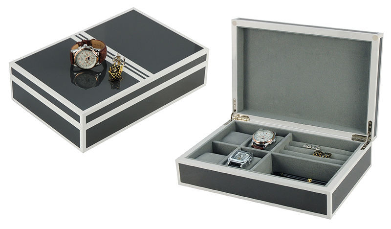 NEW LUXURY watch and Jewelry Box Storage Organizer Men's Jewelry Box  New