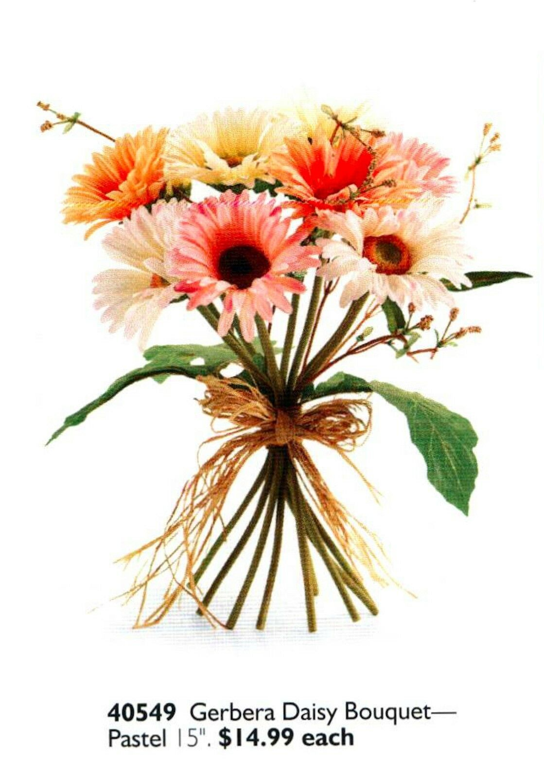 Home Interiors Floral Pastel Gerbera Daisy Ea. LAST ONE! NEW HOMCO HIG 40549 - $14.84