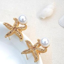 Gifts from the Sea - Starfish Pearl Earrings - $17.07