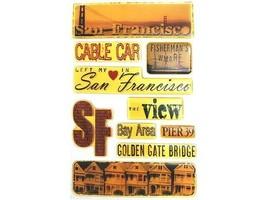 San Francisco-Themed Epoxy Dimensional Sticker Set